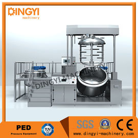 Electrical Heating Vacuum Emulsifying Mixer , 380V Emulsifying Equipment 50Hz/60Hz