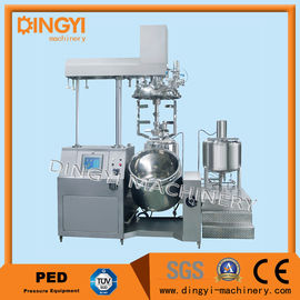 Stainless Steel Vacuum Emulsifying Mixer , Cosmetic Cream Mixers With PLC Control