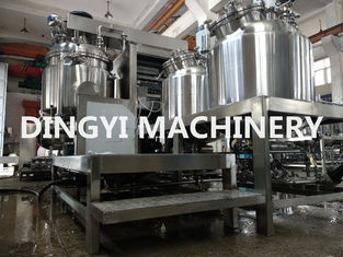 Fat Emulsion Industrial Vacuum Mixer , High Viscosity Mixer HMI Control 220V/380V