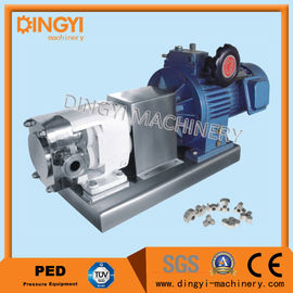 ZZP-6 Sanitary Rotary Lobe Pump 0.75-7.5kw Stainless Steel 316L With Inverter