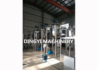 Cream Vacuum Emulsifying Mixer Steam Heating 18.5Kw Motor Safety Operation