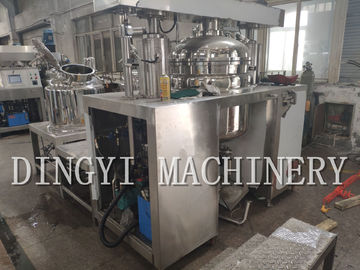 High Solid Content Industrial Vacuum Mixer With PLC Touch Screen Control